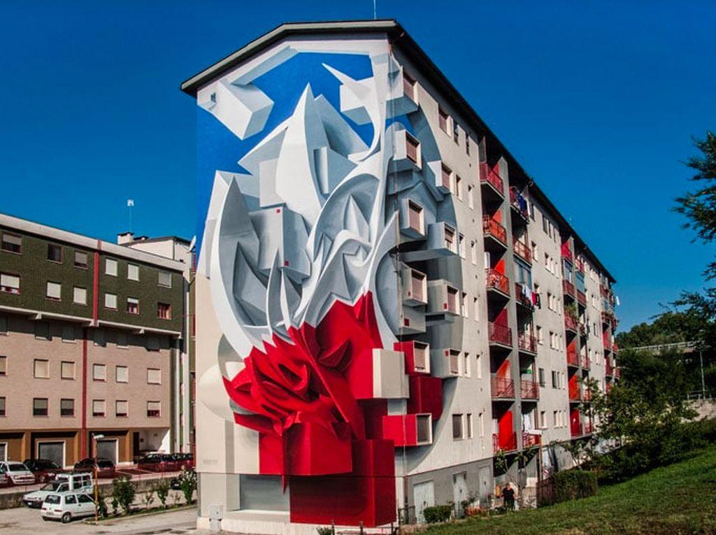 Kalau ini potret viral di mana sebuah bangunan jadi keren karena dilukis 3 dimensi. Foto: mymodernmet