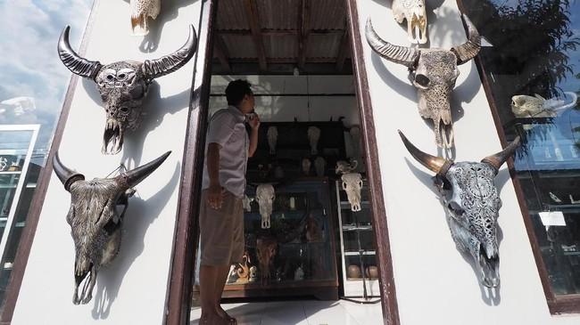 FOTO: Pukau Ukiran Kepala Kerbau