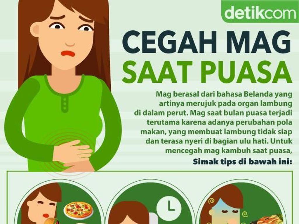 Infografis: Cara Mencegah Sakit Mag Saat Puasa