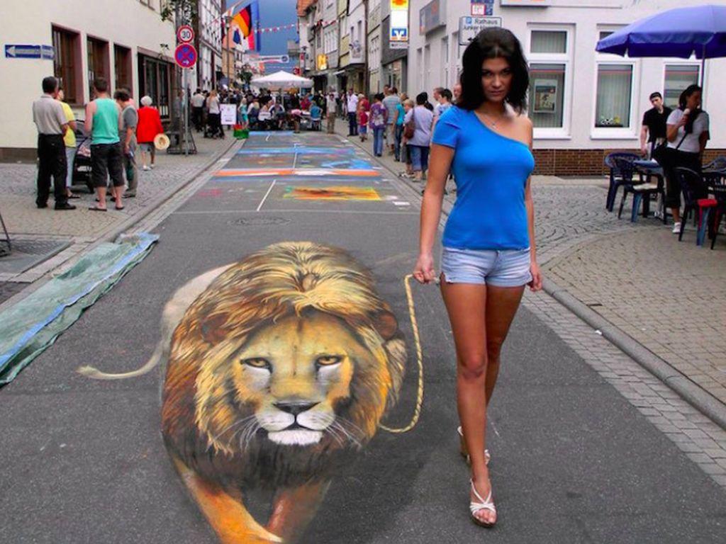 Nikolaj Arndt membuat lukisan ini di jalanan Jerman. Foto: mymodernmet