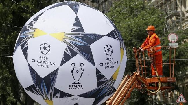 FOTO: Kiev Bersolek Jelang Final Liga Champions 2018
