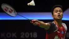 Ginting Kalah, Indonesia Tertinggal 0-1 di Piala Thomas 2018