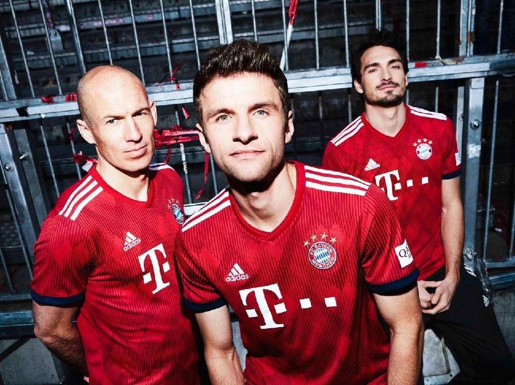Bayern Munich punya kontrak dengan Adidas sejak 2015 hingga 2030 sebesar 47,5 juta euro atau Rp 765 miliar. (Foto: Istimewa)