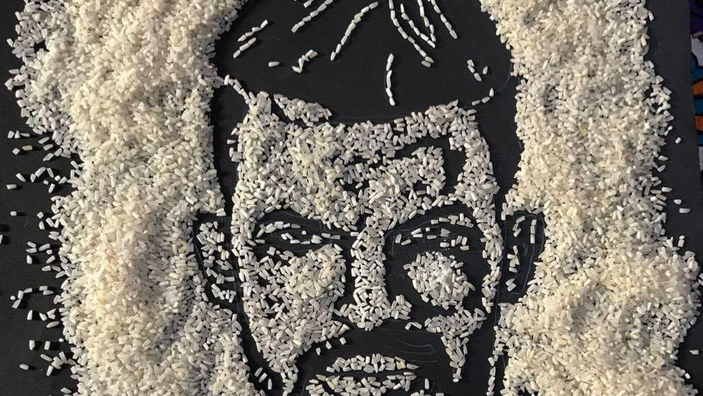 Keren! Ini 10 'Rice Art' Berbentuk Wajah Bob Marley hingga Monalisa
