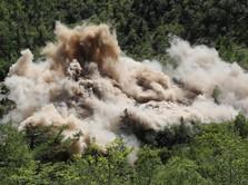 Foto: Detik-Detik Hancurnya Situs Nuklir Korea Utara