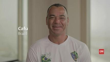 VIDEO: Cafu Tak Bisa Lupakan Gol Caniggia di Piala Dunia 1990