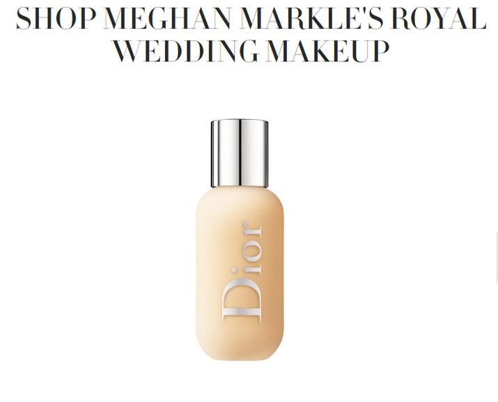 Saat prosesi pernikahan, Meghan tampil flawless dan natural. Lalu, muncul spekulasi kalau Meghan memulaskan riasan sendiri.