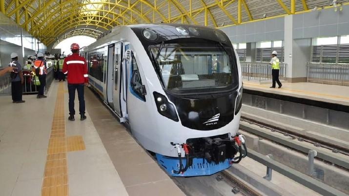 FOTO: LRT Palembang Mulai Beroperasi 15 Juli 2018
