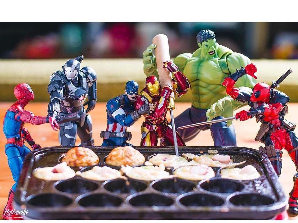 Lucunya! Ini Pose Iron Man hingga Superman dengan Makanan