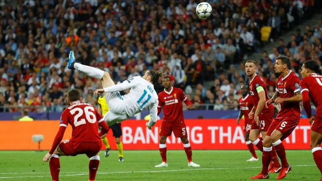 Menit Gol Salto Ronaldo dan Bale Identik di Liga Champions