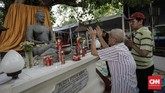 Keputusan mengenai bentuk Buddha Rupang mengikuti yang ada di Candi Borobudur berdasarkan imbauan dari Putri Raja Thailand Mahā Chakri Sirindhorn yang berkunjung. (CNNIndonesia/Adhi Wicaksono)