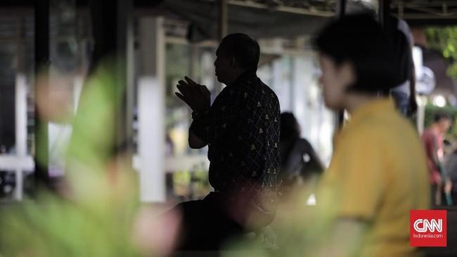 Wihara ini resmi digunakan sejak 1985 yang ditandai upacara dan penandatanganan prasasti oleh Menteri Agama RI kala itu, Munawir Sjadzali. (CNNIndonesia/Adhi Wicaksono)