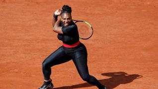 Serena Williams Berkostum 'Black Panther' di Perancis Terbuka