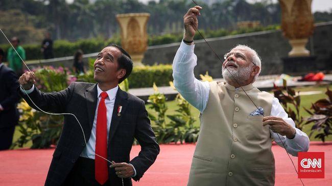 Diplomasi Layang-layang Jokowi dan PM India Narendra Modi
