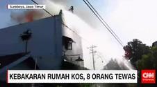 Kebakaran Rumah Kos, 8 Orang Tewas