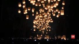 VIDEO: Perayaan Waisak di Borobudur Ditutup Ribuan Lampion