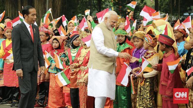 Tiba di Istana Merdeka, PM India Disambut Pasukan Nusantara