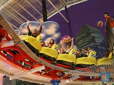 CT Naik Roller Coaster Saat Buka Transmart ke-111 di Bogor