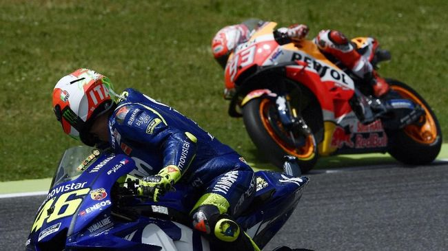 Rossi Sebut Marquez 'Dihukum' Ban di MotoGP Italia