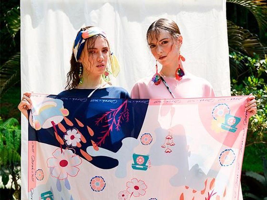 10 Pilihan Hijab Motif Karya Desainer dan Artis yang Cocok untuk Lebaran