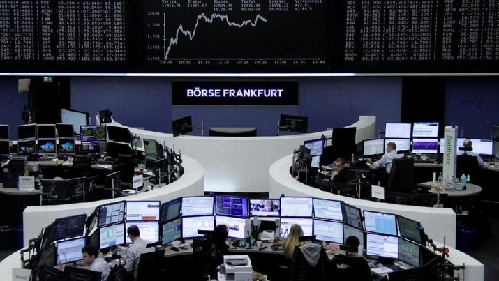 The German share price index, DAX board, is seen at the stock exchange in Frankfurt, Germany, March 5, 2018. REUTERS/Staff/Remote