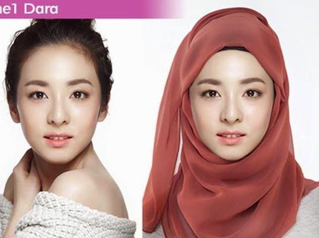Edisi Ramadan, 9 Foto Editan Artis Korea Pakai Hijab Ini Bikin Adem
