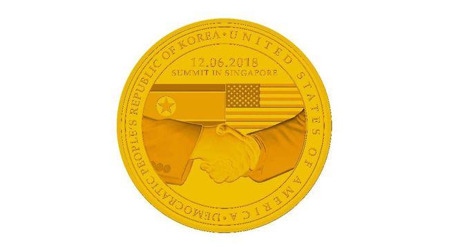 Medali Peringatan Pertemuan Kim-Trump Dijual Rp19 Juta