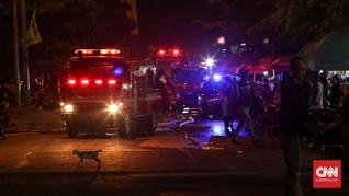 Kebakaran di Pasar Kambing Tanah Abang, 24 Damkar Dikerahkan
