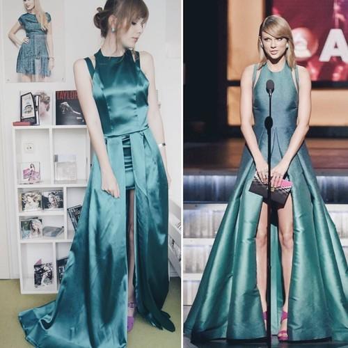 Ngefans Berat, Wanita Ini Bikin Kostum Taylor Swift yang Mirip Banget
