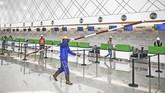 Kendati sudah mulai beroperasional, pembangunan bandara yang masuk dalam Proyek Strategis Nasional (PNS) 2017 ini belum 100 persen rampung. (ANTARA FOTO/Akbar Nugroho Gumay/ama/18).