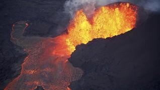 FOTO: Erupsi Gunung Kilauea Dilihat dari Udara