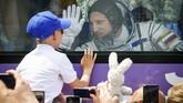 Ketiga astronaut menumpang roket Soyuz MS-09, versi pembaruan dari roket seri MS yang diluncurkan dariBaikonur Cosmodrome,Kazakhstan.(dok. REUTERS/Shamil Zhumatov)