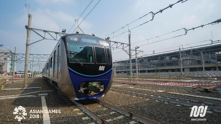 Uji Coba MRT Jakarta di Lebak Bulus, Selasa (5/8/6/2018) . (dok. MRT Jakarta)