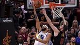 Golden State Warriors menjalani laga keempat di final NBA 2018 di Quicken Loans Arena, Sabtu (9/8) pagi waktu Indonesia barat, dengan mengantongi bekal tiga kemenangan atas Cleveland Cavaliers. (Kyle Terada-USA TODAY Sports)