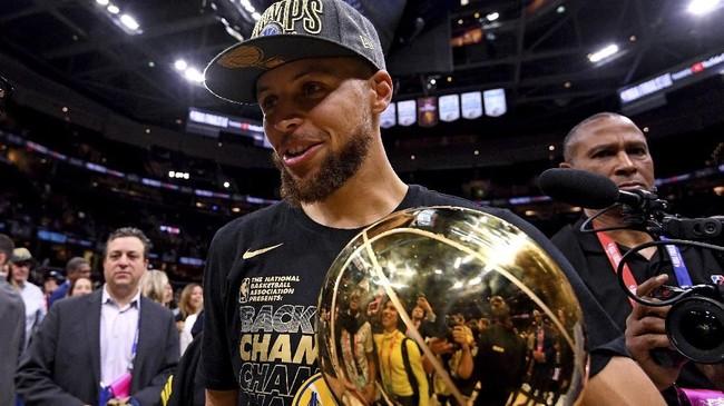 Stephen Curry yang menjadi salah satu tulang punggung Golden State Warriors meraih gelar ketiga dalam karier di NBA. (Kyle Terada-USA TODAY Sports)