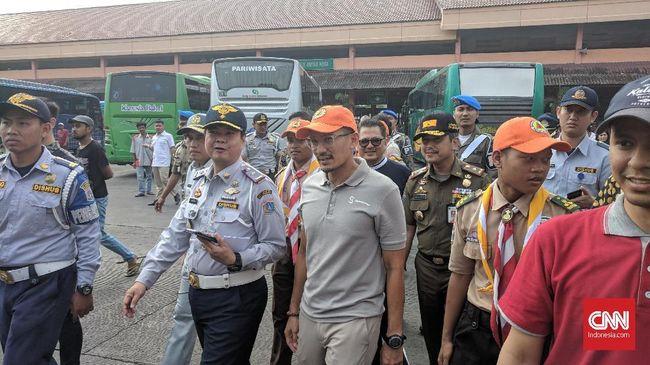 Sandiaga Larang PO Bus Angkut Pemudik dari Terminal Bayangan