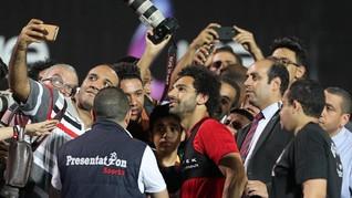 Salah Disambut Ribuan Fan Timnas Mesir Bak Raja