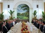 Kehangatan Trump dan Perdana Menteri Lee Santap Siang Bersama