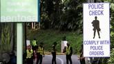 Faktor keamanan jadi perhatian kedua pihak, dan aparat Singapura sebagai tuan rumah memastikan hal itu terjamin. (REUTERS/Kim Kyung-Hoon)