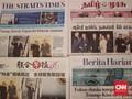 Pertemuan Trump-Kim Jong-un Jadi Berita Utama Koran Singapura