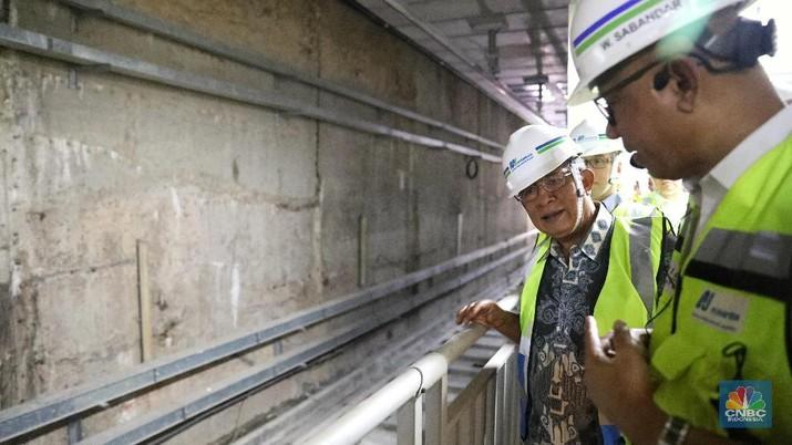 MRT fase I menghubungkan Lebak Bulus hingga Bundaran HI saat ini progres konstruksi dari proyek itu sudah mencapai 94,19%.