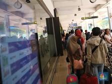 Ribuan Pemudik Padati Bandara Halim Perdana Kusuma