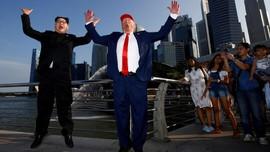FOTO: Dunia Sambut Pertemuan Kim Jong-un dan Donald Trump