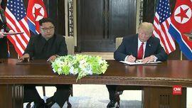 VIDEO:  Trump-Kim Tanda Tangan Dokumen Bersejarah AS-Korut