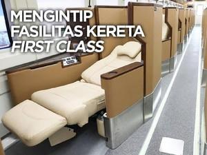 Video : Yuk, Intip Fasilitas Mewah di Kereta First Class KAI