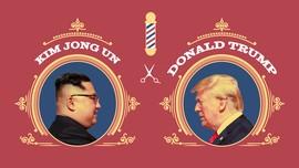 INFOGRAFIS: Rambut Ikonik Donald Trump VS Kim Jong Un