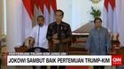 Jokowi Sambut Baik Pertemuan Trump-Kim