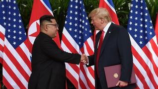 Pesohor Korsel Respons Pertemuan Kim Jong Un dan Donald Trump