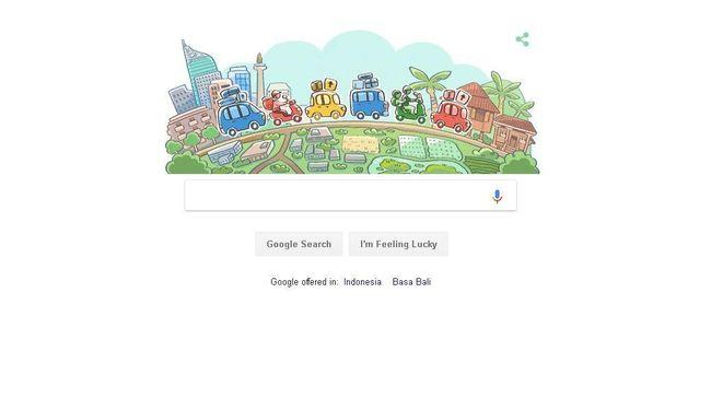 Google Tampilkan Ilustrasi Mudik 2018 dalam Doodle