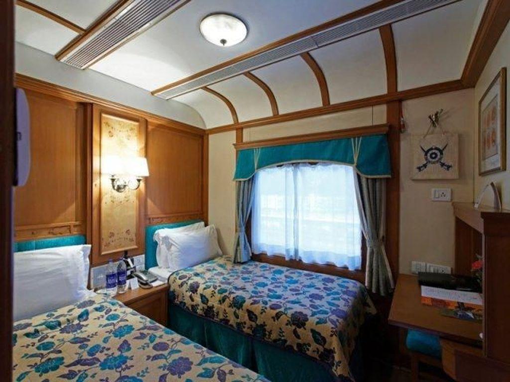 Deccan Odyssey menawarkan beberapa kelas kamar dengan tempat tidur layaknya di hotel. Istimewa/Deccan Odyssey.